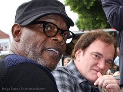 Quentin Tarantino and Samuel L  Jackson