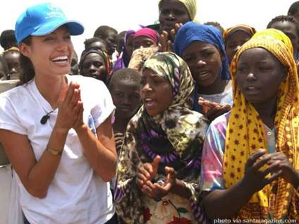 Angelina Jolie in Africa