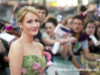 JK Rowling on red carpet