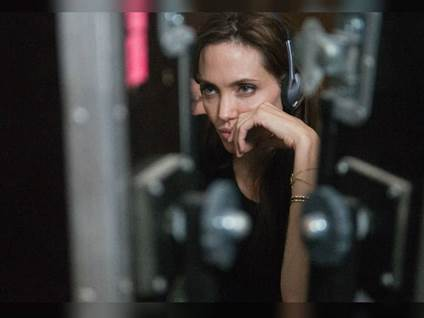 Angelina Jolie filming LandBloodHoney
