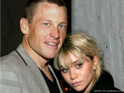 Lance Armstrong and Ashley Olsen