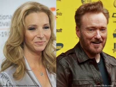 Lisa Kudrow and Conan O' Brien
