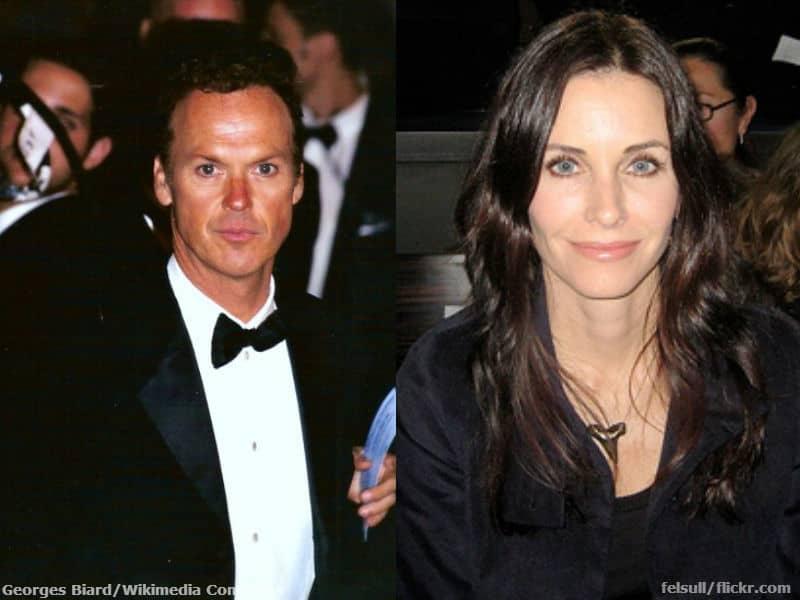 Michael Keaton and Courtney Cox