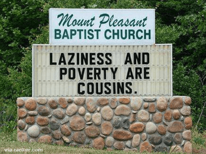 controversial, church, signs