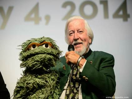 Oscar the Grouch with creator