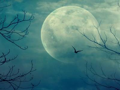 Full spooky moon