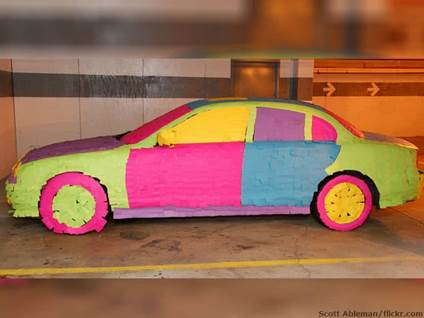 Sticky noted car
