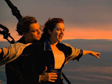 DiCaprio and Winslet
