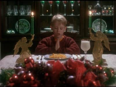 Kevin Praying at Table
