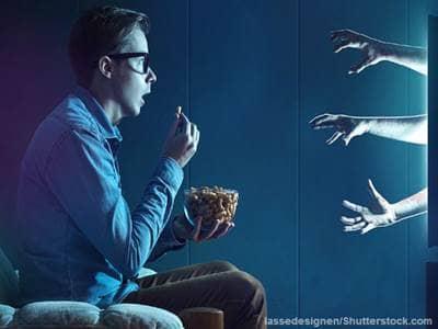 Watching horror film