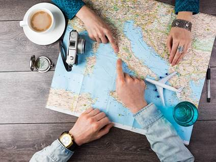 travel-map-coffee-plane