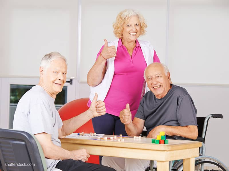 bingo seniors thumbs up