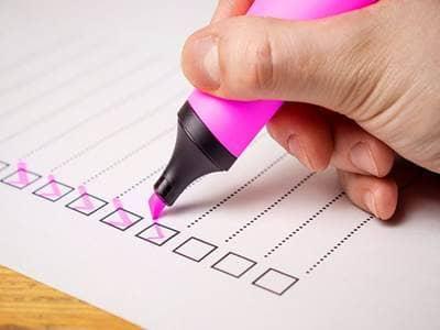 checklist to do list