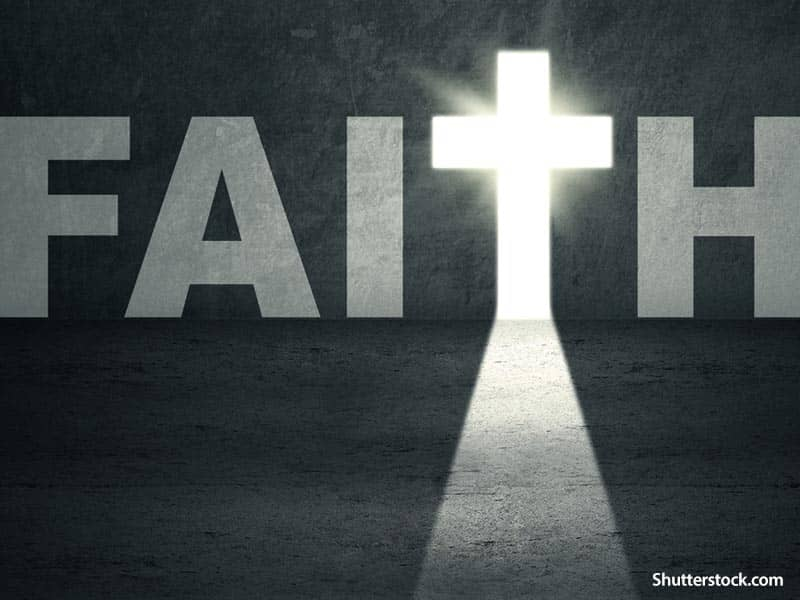 Faith background cross