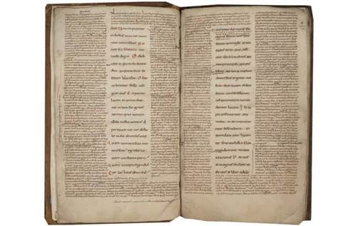 13  idda collection   vulgate bible job with the glossa ordinaria f  6v 7 l