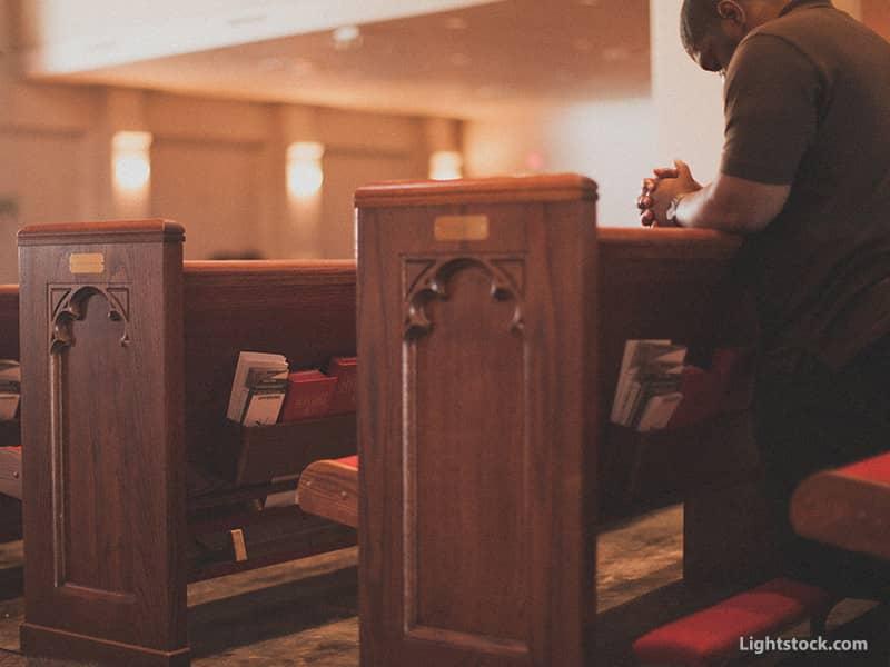 In Church Praying