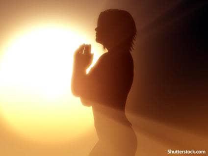 people woman praying sunlight
