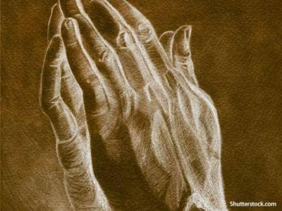 praying hands sketch