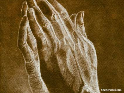 praying hands sketch