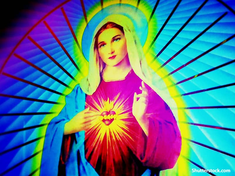 colorful virgin mary