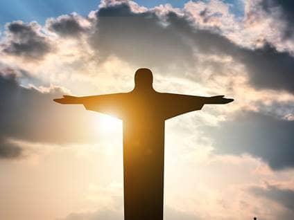 jesus sky statue