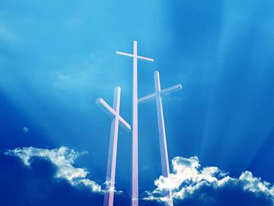 3 crosses in sky