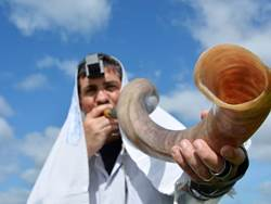 Man on Shofar