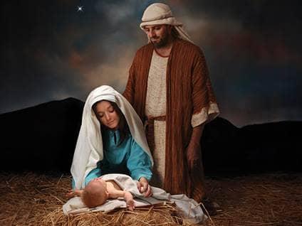 Jesus, Joseph, Mary at Nativity