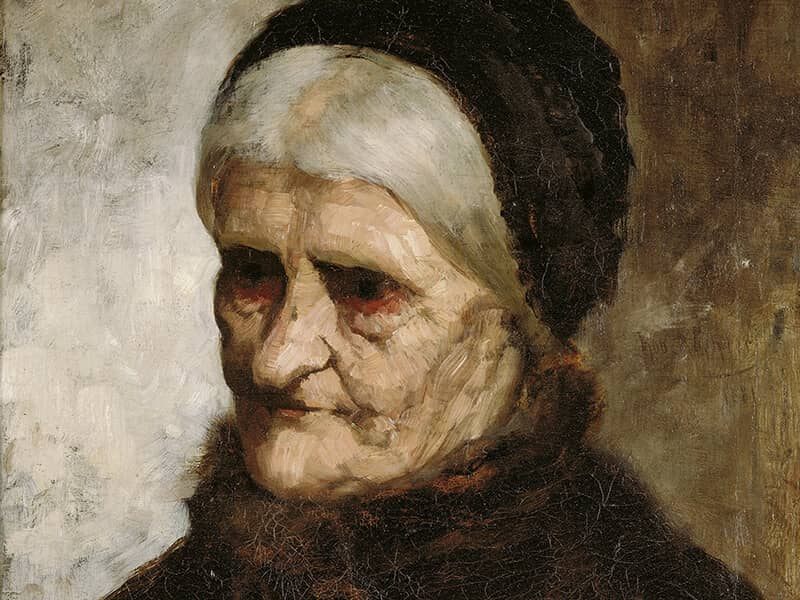 old widow woman