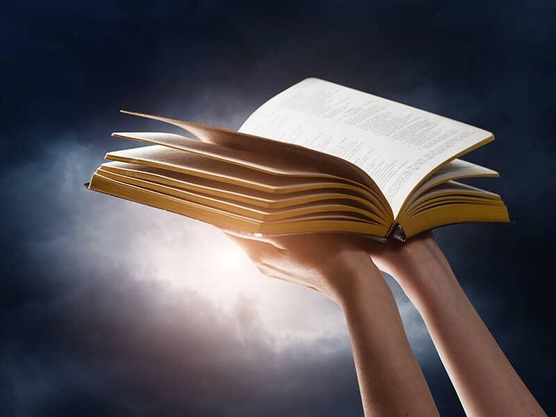 Bible Arms Sky
