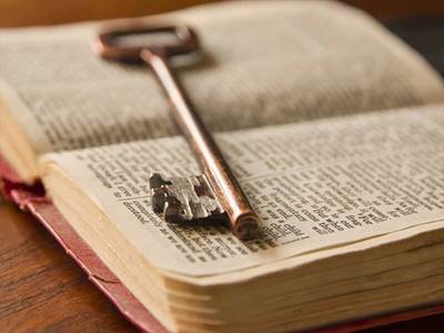 bible and key