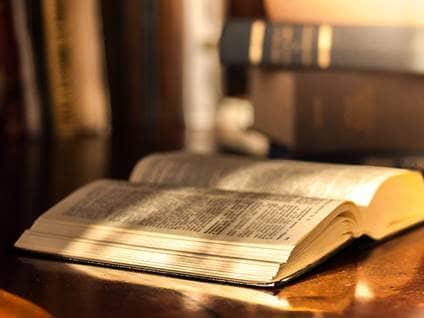 Bible in sunlight