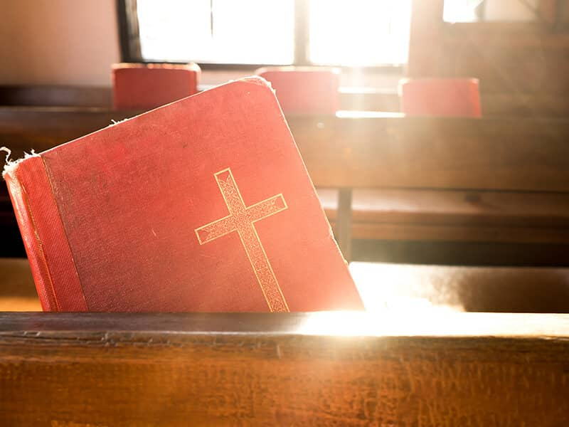 church bible pew
