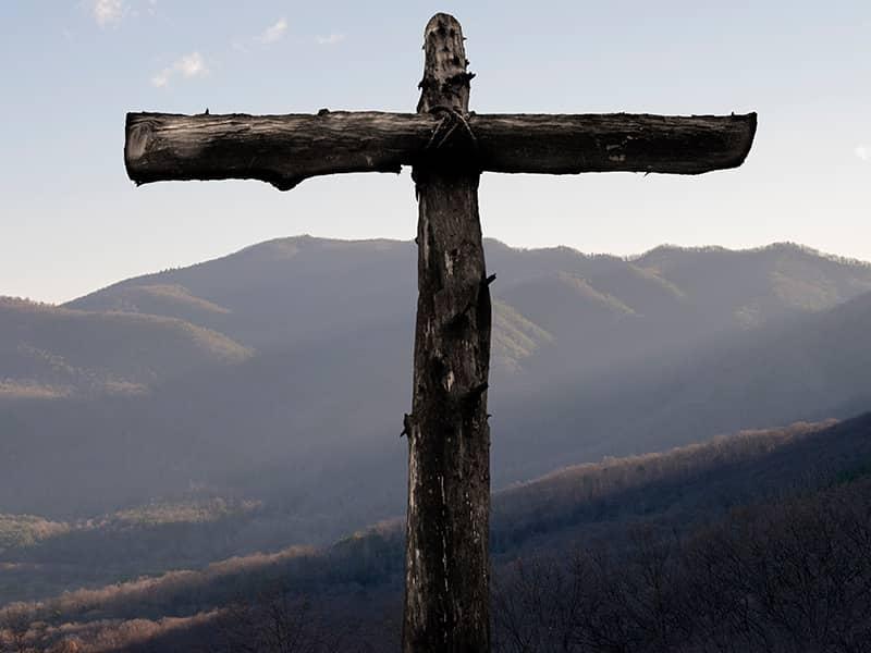 cross mountainside