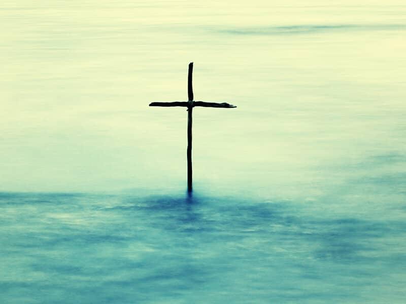 cross on water