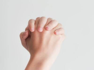hands praying isolated