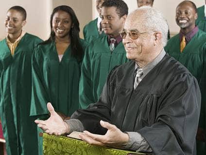 pastor in church