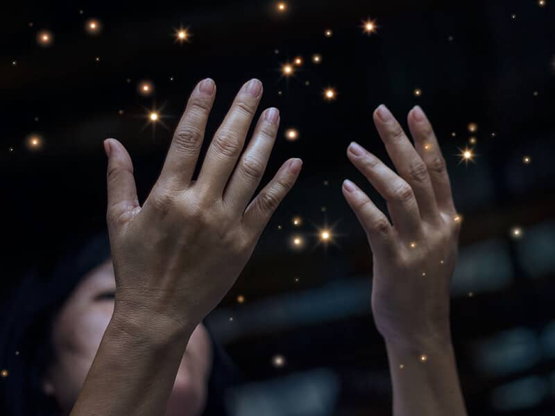 magical prayer hands