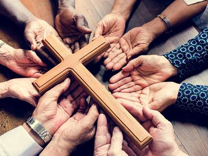 group cross prayer