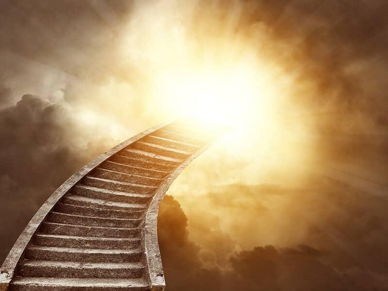 stairs heaven light