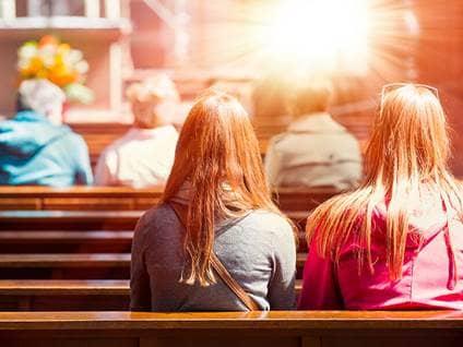 faith christian young women church pews sermon