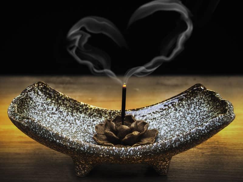 incense smoke heart
