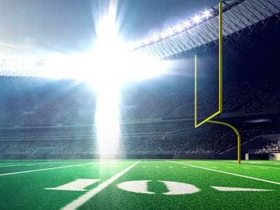Cross on football field