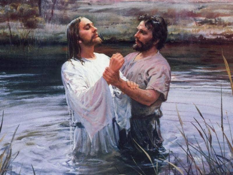 Baptism of jesus christ by john the baptist - 2 1