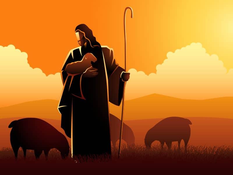 Jesus with flock