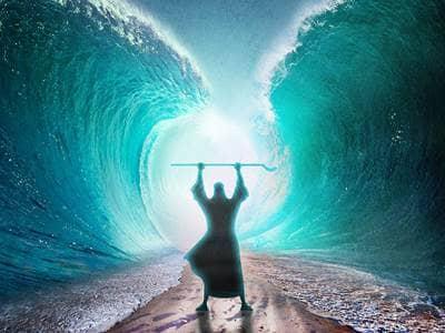 Moisés parte o Mar Vermelho