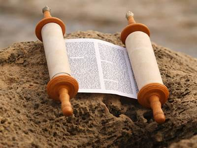 Torah Scroll Hebrew Writing