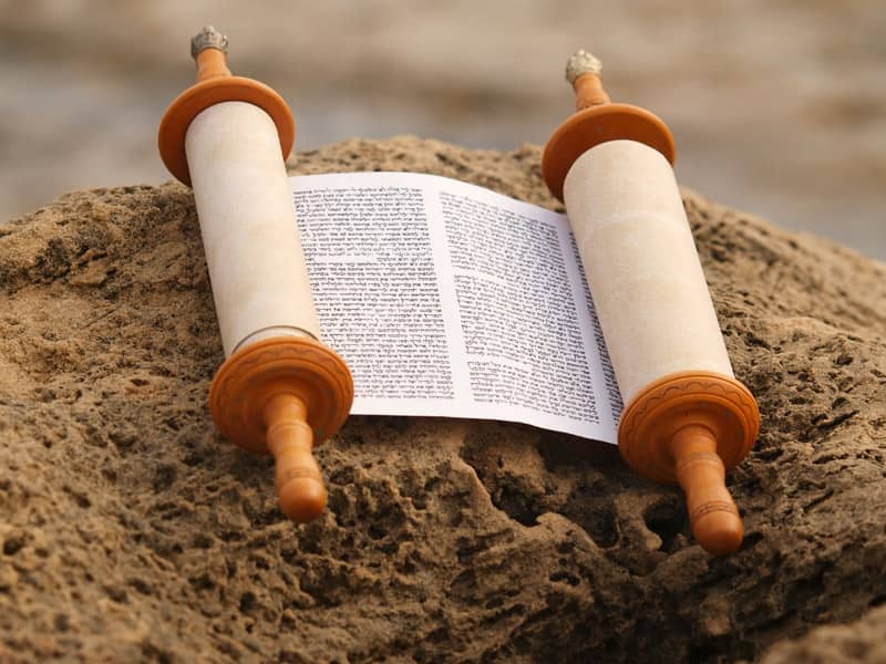 Torah Scroll Hebrew Writing