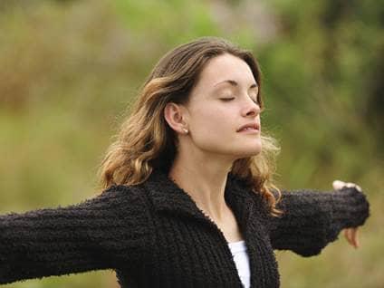 Woman in worship