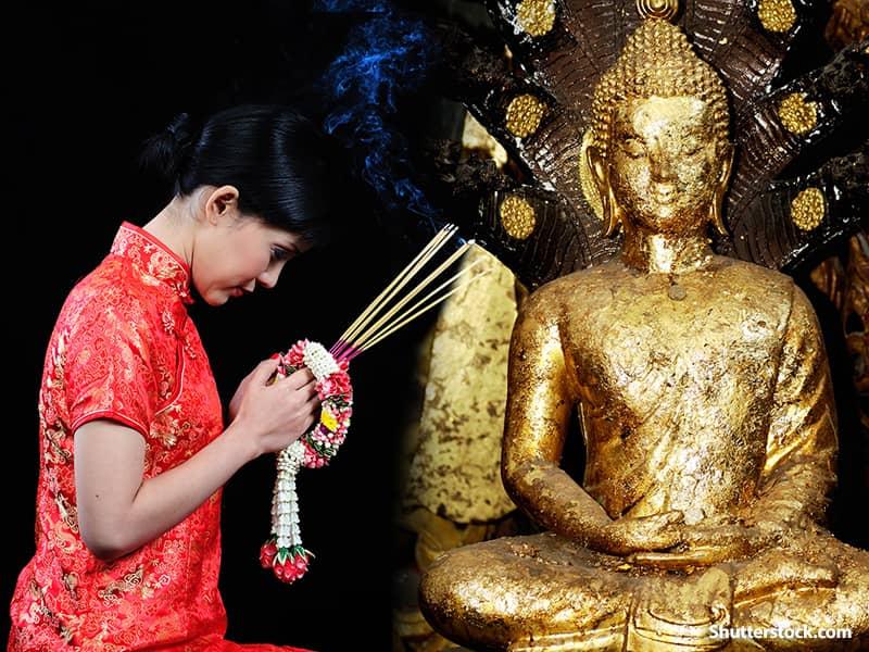 Religious Woman Buddist Prayer